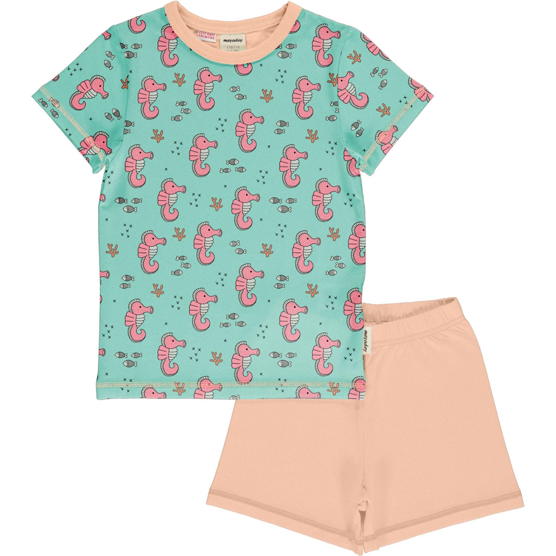 Pijama SEA HORSES Meyaday (Tamanhos disponíveis 9-12m, 18-24m, 3-4a, 5-6a, 7-8a, 9-10a)