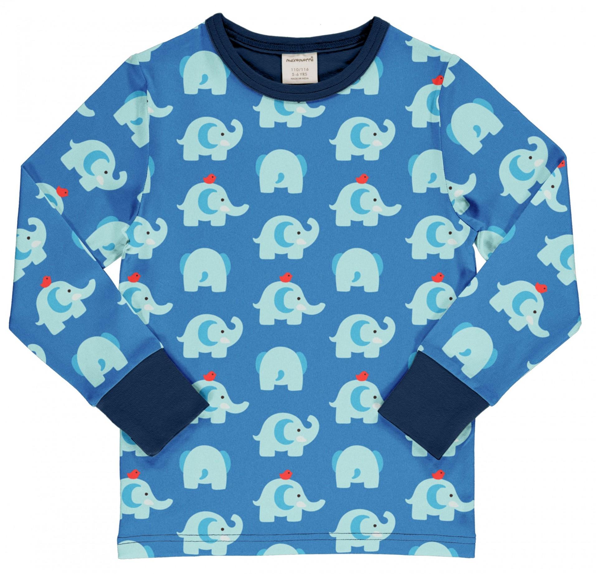 Camisola ELEPHANT FRIENDS Maxomorra (Tamanhos disponíveis 9-12m, 7-8a)