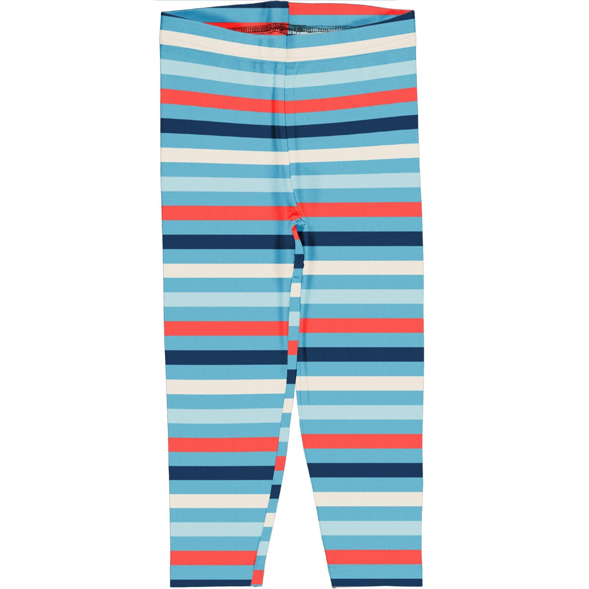 Leggings 3/4 Stripe Sky Maxomorra (Tamanhos disponíveis 3-6m, 9-12m, 7-8a)