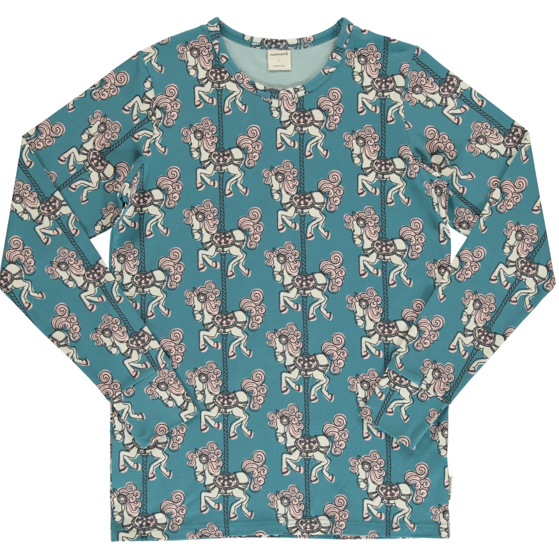 Camisola Merry Go Round Maxomorra (Tamanhos disponíveis 18-24m, 3-4a, 5-6a)