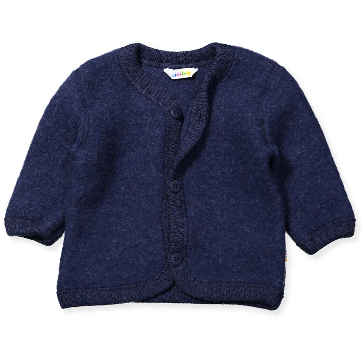 Cardigan Marine wool fleece JOHA