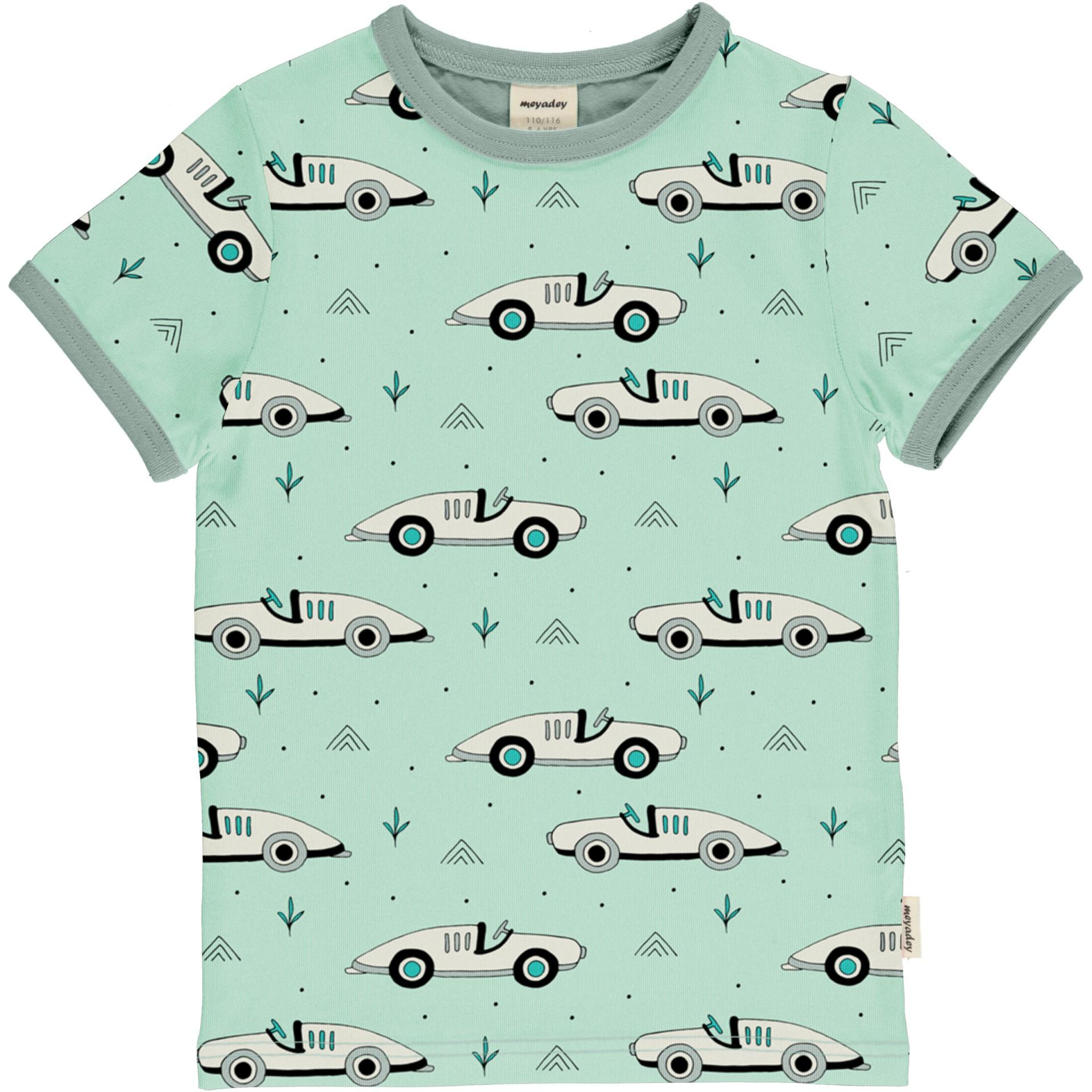 T-shirt Race Cars Meyaday (Tamanhos disponíveis 9-12m, 18-24m)
