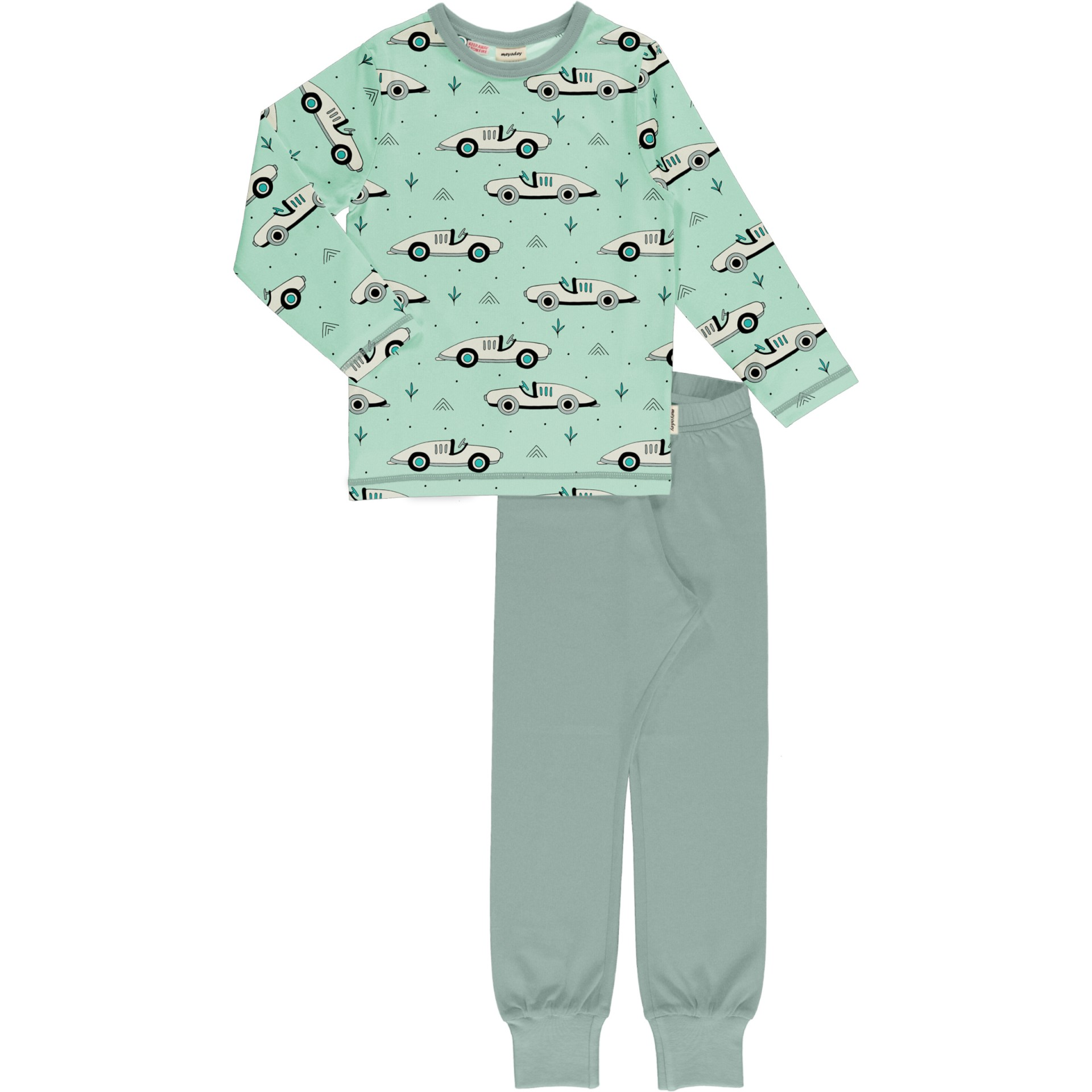 Pijama Race Cars Meyaday (Tamanhos disponíveis 18-24m, 3-4a, 5-6a, 9-10a)