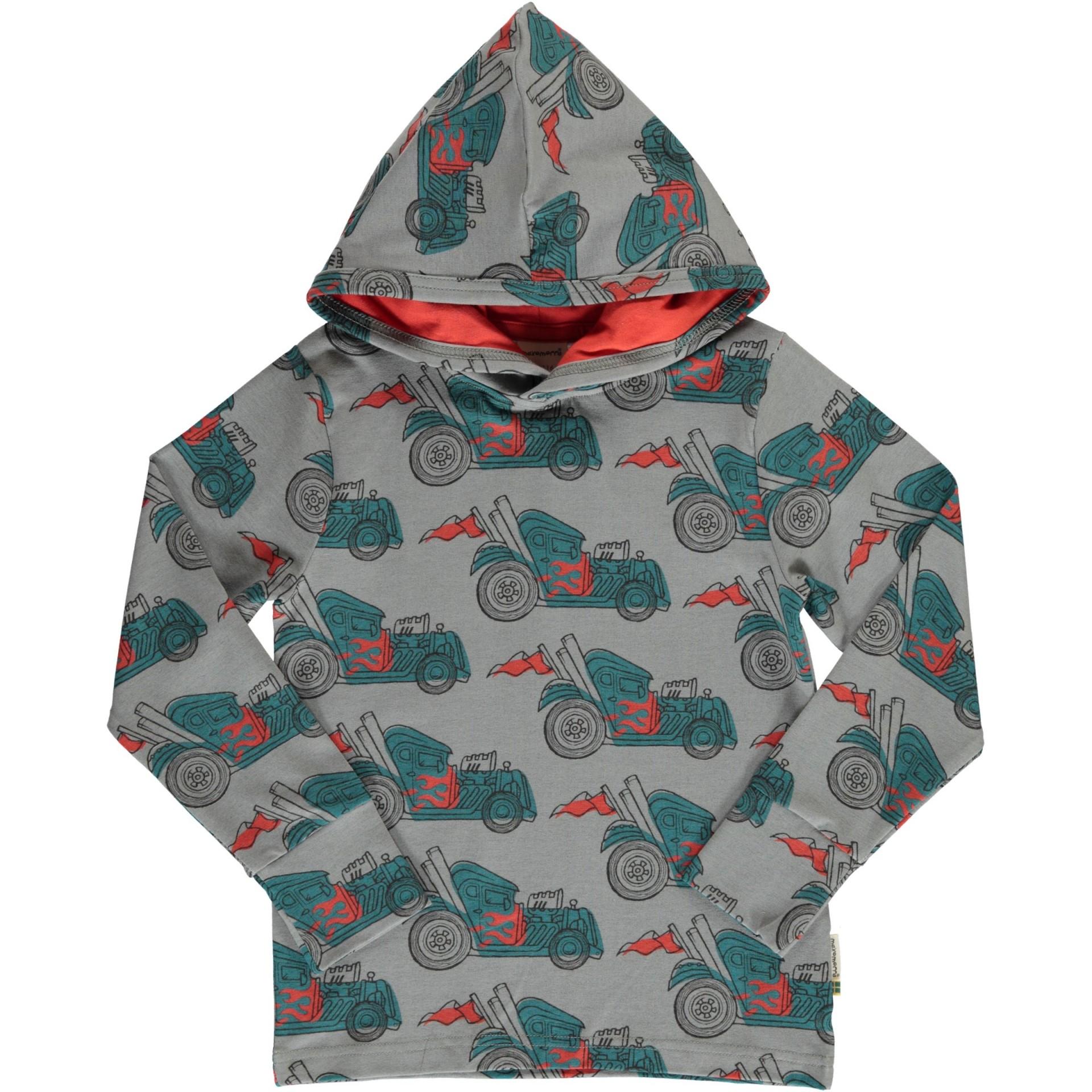 Camisola com capuz Hot Rod Maxomorra (Tamanhos disponíveis 18-24 m, 3-4 a, 5-6a)