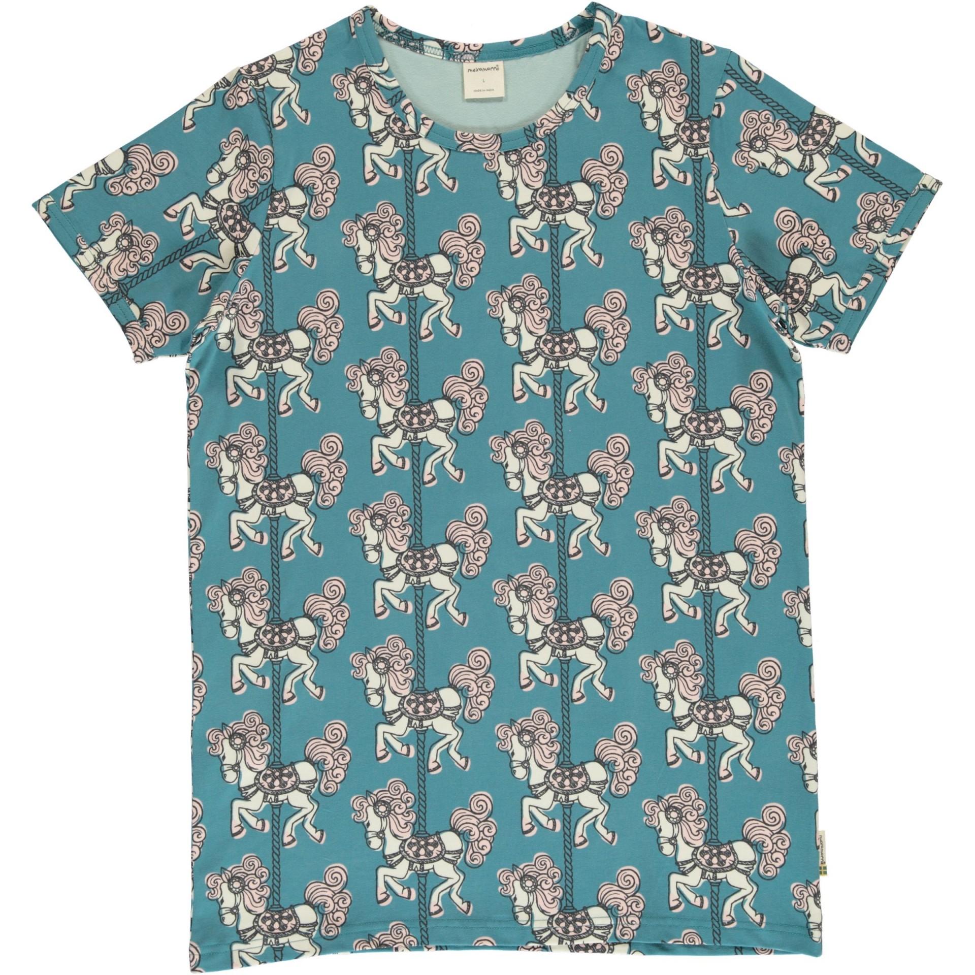 T-shirt Merry Go Round Maxomorra (Tamanhos disponíveis 18-24m, 3-4a)