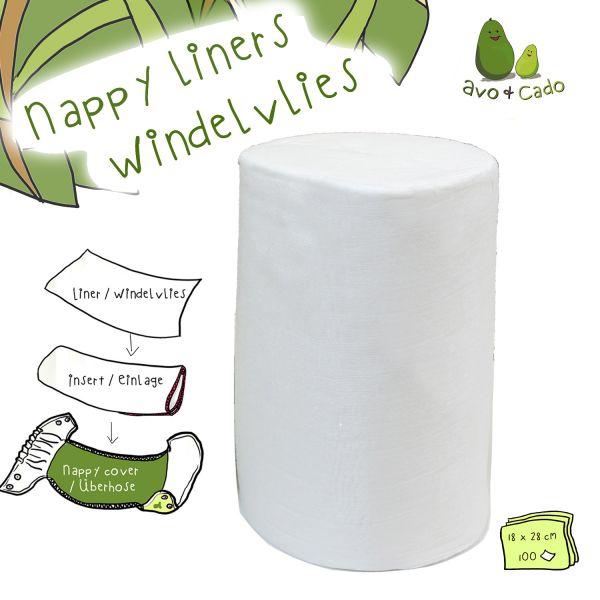 Liners biodegradáveis de bambu Avo&Cado (100 folhas)