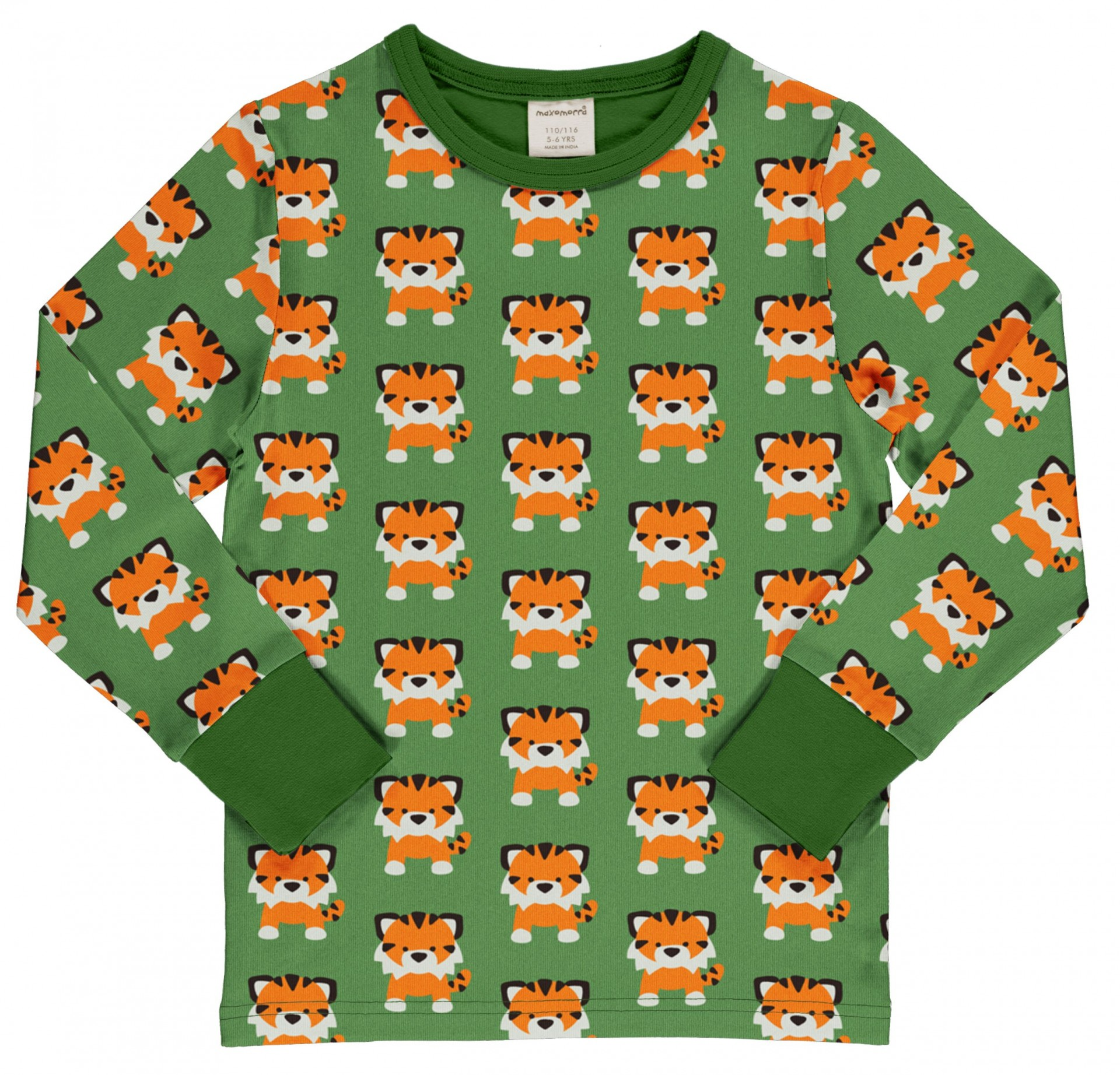 Camisola TANGERINE TIGER Maxomorra (Tamanhos disponíveis 9-12m, 18-24m)