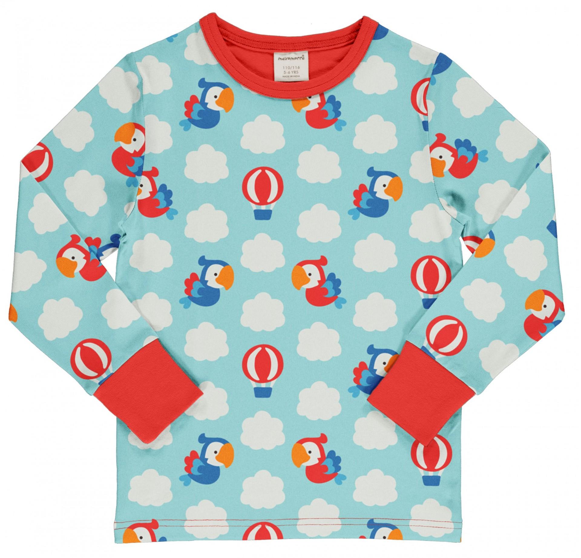Camisola PARROT SAFARI Maxomorra (Tamanhos disponíveis 9-12m, 18-24m, 7-8a)