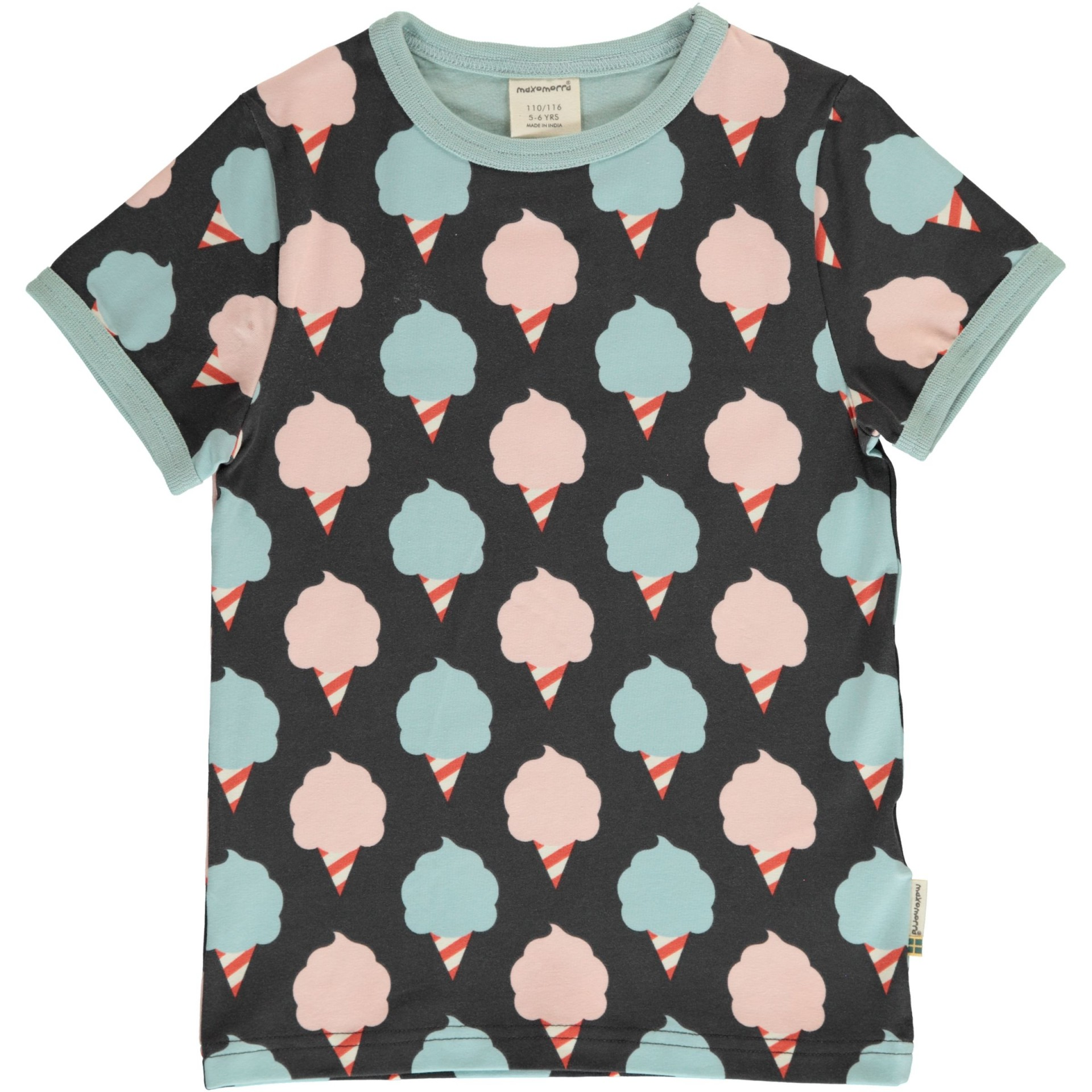T-shirt Sweet Cotton Candy Maxomorra (Tamanhos disponíveis 18-24m, 3-4a, 7-8a)