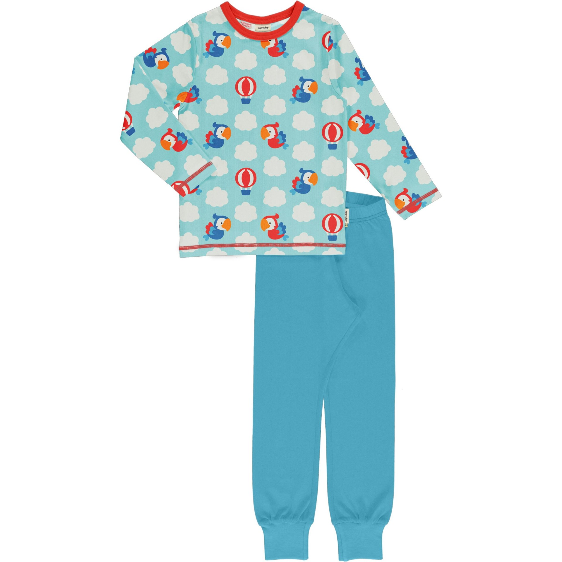Pijama PARROT SAFARI Maxomorra (Tamanhos disponíveis 18-24m, 3-4a, 7-8a)