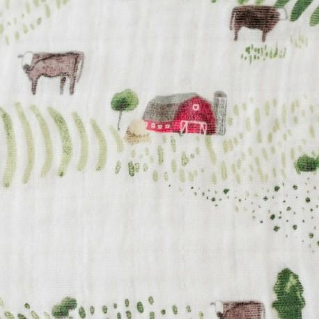 Musselina de algodão Farm 120x120 Little Unicorn (1und.)
