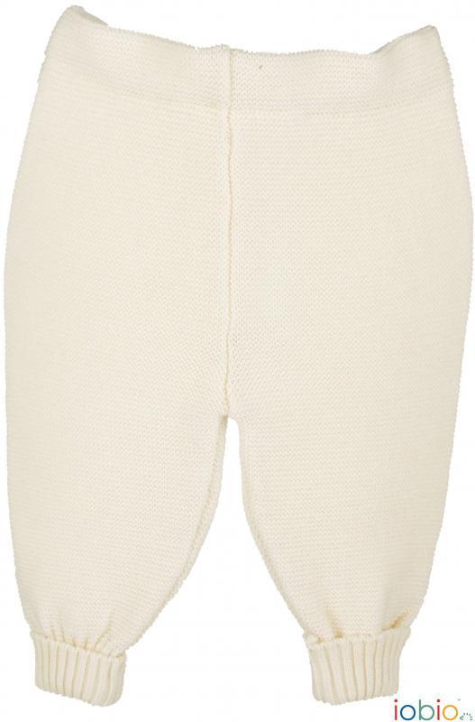Calças de lã merino tricotada Iobio Ecru