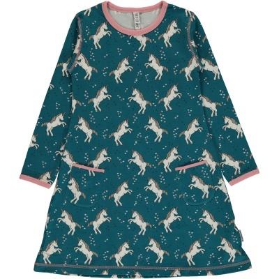 Vestido LS UNICORN DREAMS Maxomorra (Tamanhos disponíveis 9-12m, 18-24m, 3-4a, 5-6a, 7-8a, 9-10a)