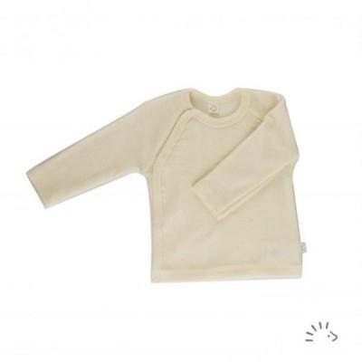 Camisola térmica de lã orgânica estilo Kimono Iobio Ecru