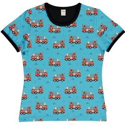 T-shirt de adulto (mulher) Fire trucks Meyaday (Tamanhos disponíveis  M, L)