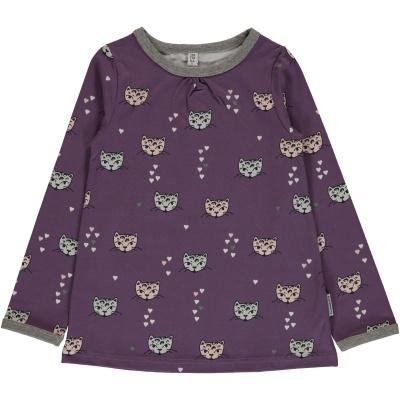 Blusa LS KITTY CAT Maxomorra (Tamanhos disponíveis 9-12m, 18-24m, 3-4a, 5-6a, 7-8a, 9-10a)