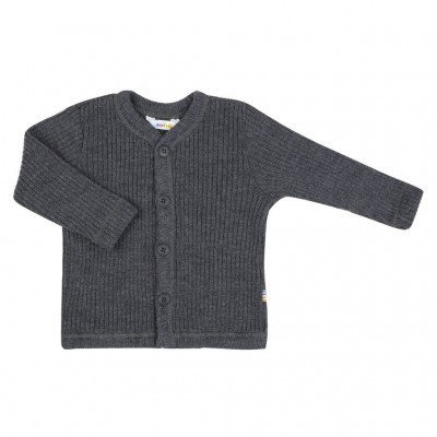 Cardigan Anthracite heavy rib JOHA