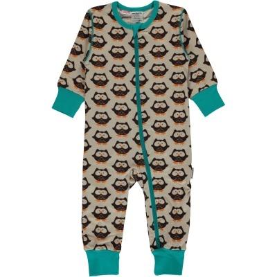 Babygrow com zip OWL Maxomorra (Tamanhos disponíveis 1-3m, 3-6m, 9-12m e 18-24m)