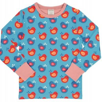 Camisola Bright Birds Maxomorra (Tamanhos disponíveis 9-12, 18-24m, 3-4a, 5-6a, 7-8a)