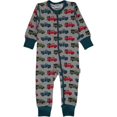 Babygrow com zip TRUCK Maxomorra (Tamanhos disponíveis 1-3m, 3-6m, 9-12m e 18-24m)