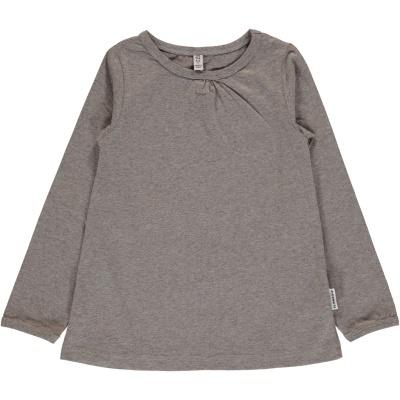 Blusa LIGHT GREY MELANGE Maxomorra (Tamanhos disponíveis 9-12m, 18-24m, 3-4a, 5-6a, 7-8a, 9-10a)