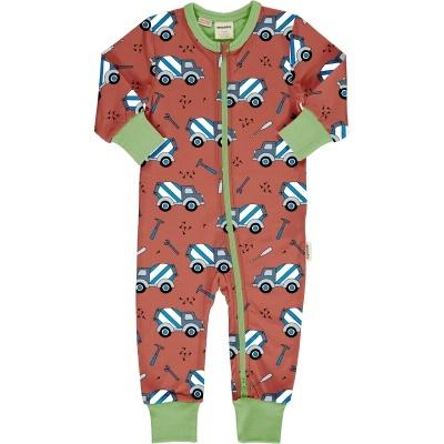 Babygrow com zip CEMENT TRUCK Maxomorra (Tamanhos disponíveis 1-3m, 3-6m, 9-12m e 18-24m)