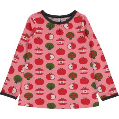 Blusa LS APPLE Maxomorra (Tamanhos disponíveis 9-12m, 18-24m, 3-4a, 5-6a, 7-8a, 9-10a)