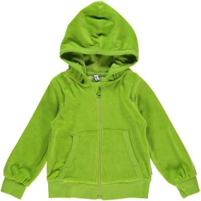Casaco com capuz veludo Bright Green  Maxomorra (Tamanhos disponíveis  68, 74, 80, 86. 92)