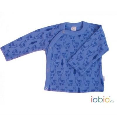 Camisola térmica lã orgânica estilo Kimono Iobio Lamas Azul