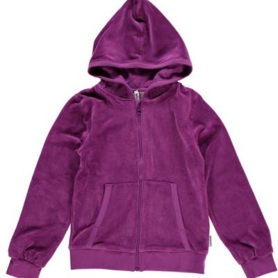 Casaco com capuz veludo Purple  Maxomorra (Tamanhos disponíveis  68, 74, 80, 86, 92)