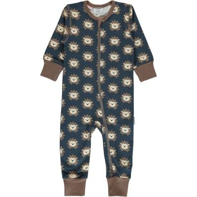 Babygrow com zip HEDGEHOG Maxomorra (Tamanhos disponíveis 1-3m, 3-6m, 9-12m e 18-24m)