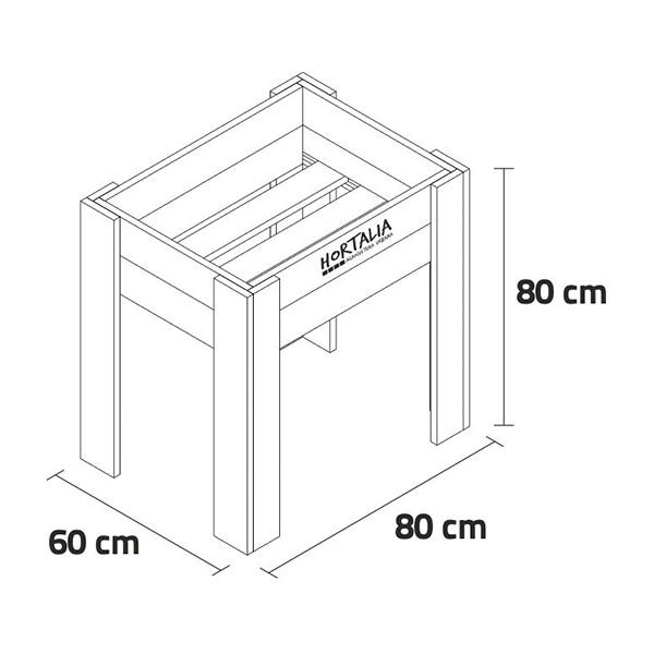 Canteiro elevado / Mesa de cultivo M80