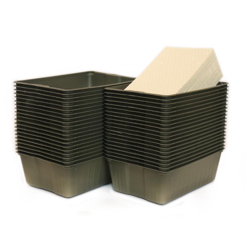 Kit Microvegetais 40 bandejas e celulose