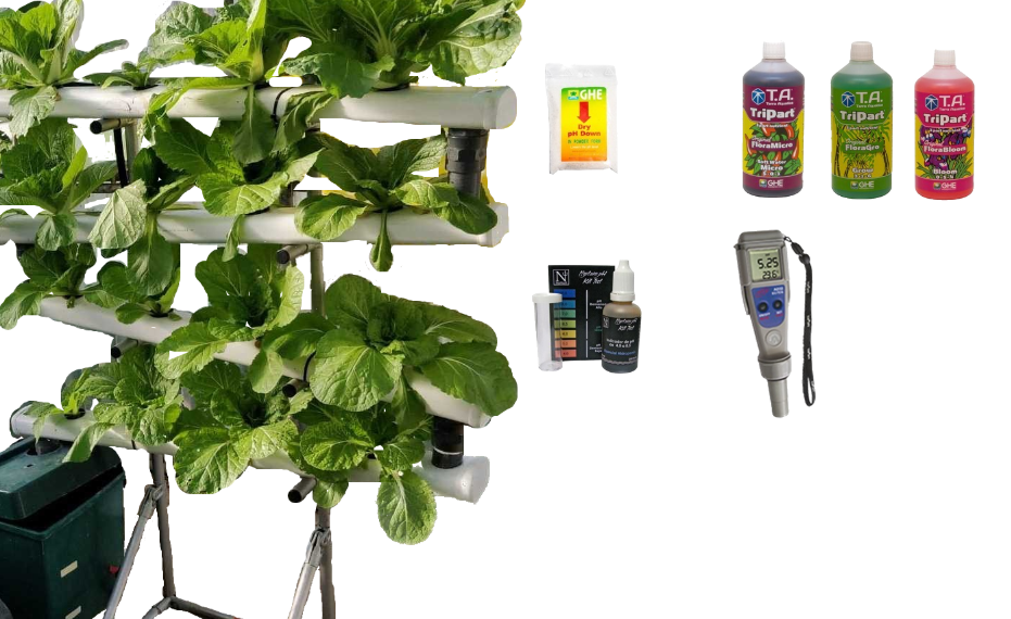 Kit Hidroponia Sistema NFT vertical - Cascata