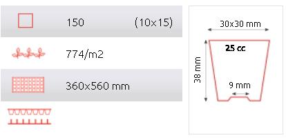 Tabuleiro Rígido alveolar 150