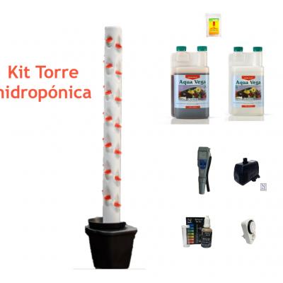 Kit Hidroponia Torre Hidropónica