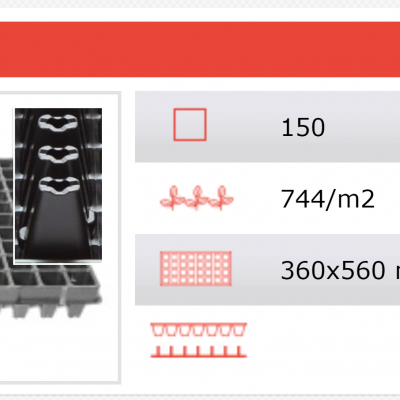 Tabuleiro alveolar 150