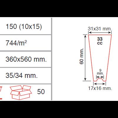 Tabuleiro alveolar 150 Semi-Rígido