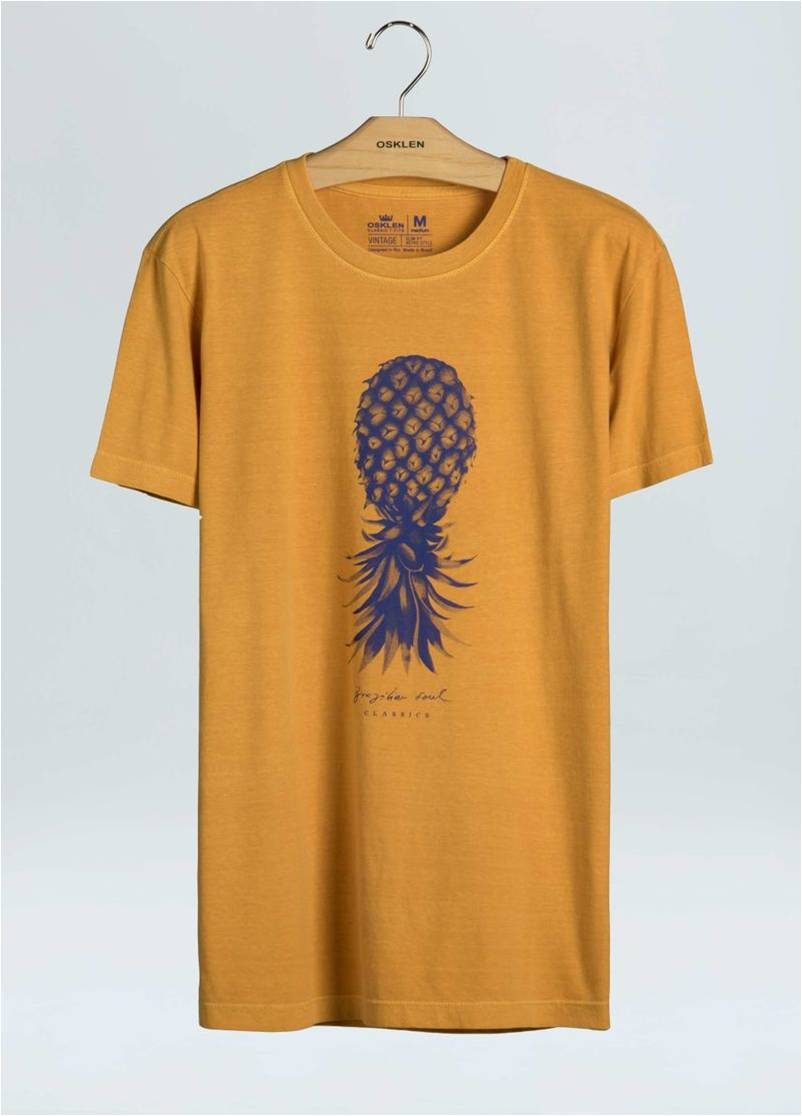 T-SHIRT STONE VINTAGE ABACAXI CLASSIC OSKLEN