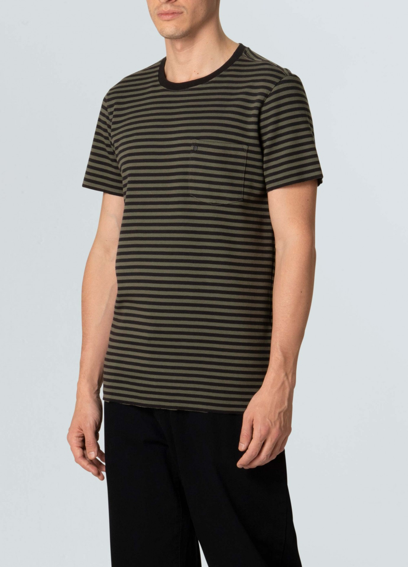 T-Shirt Osklen Double Pocket Stripes Rose