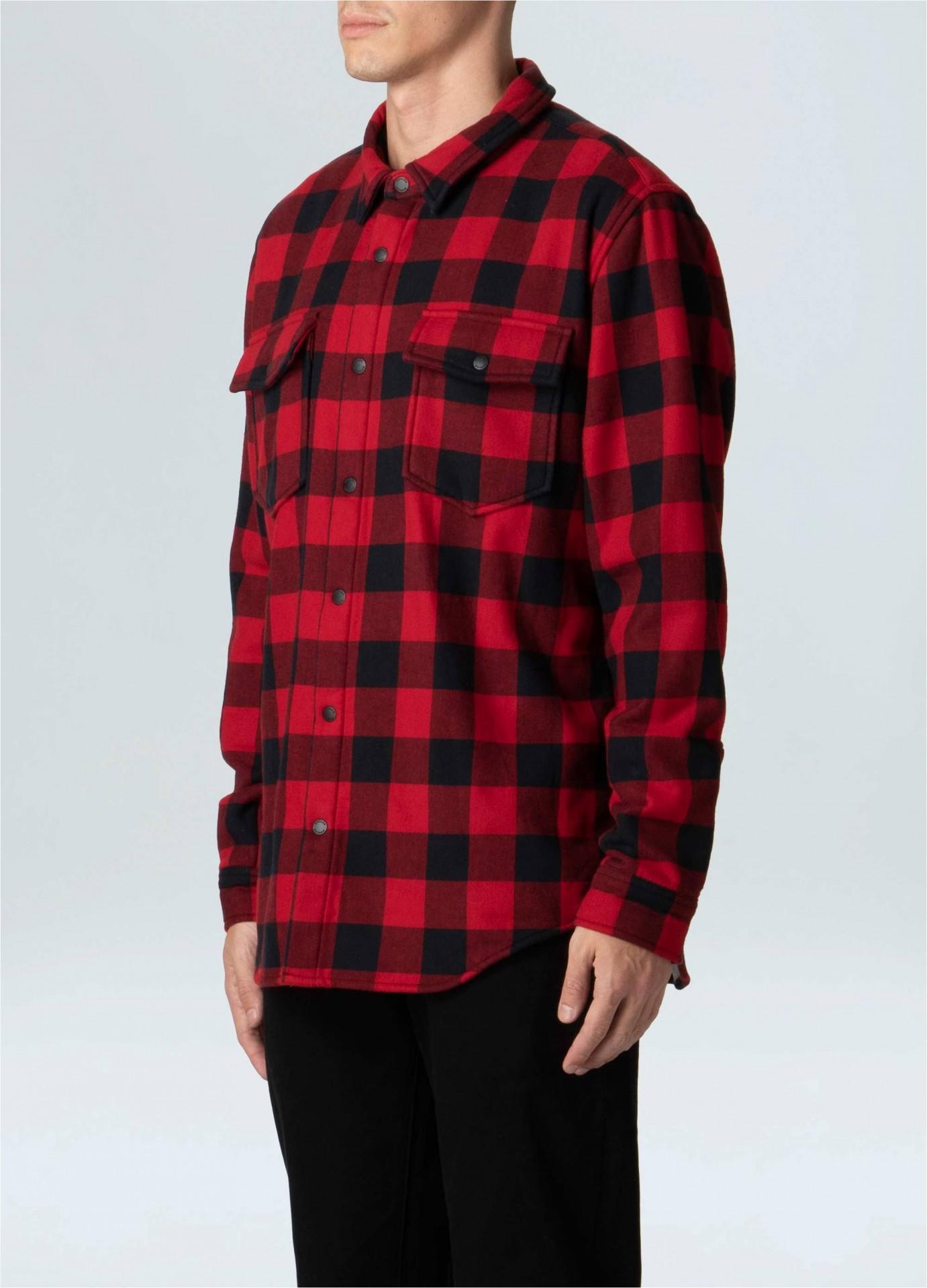 Plaid Shirt Jacket Maculina