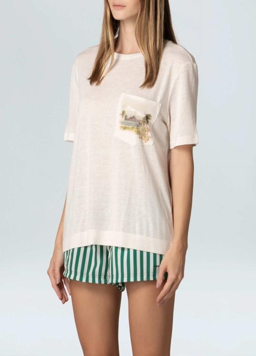 T-Shirt Feminina Osklen RJ Bolso