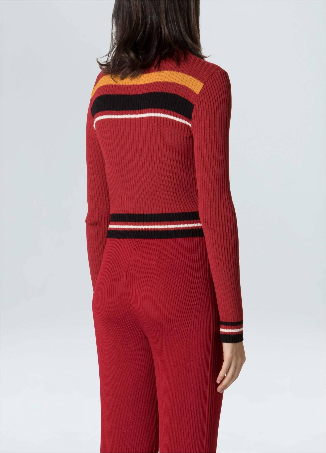 Blusa Feminina Ml Stripes Knit