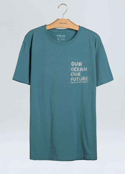 T-Shirt Masculina Osklen Vintage Our Ocean Our Future