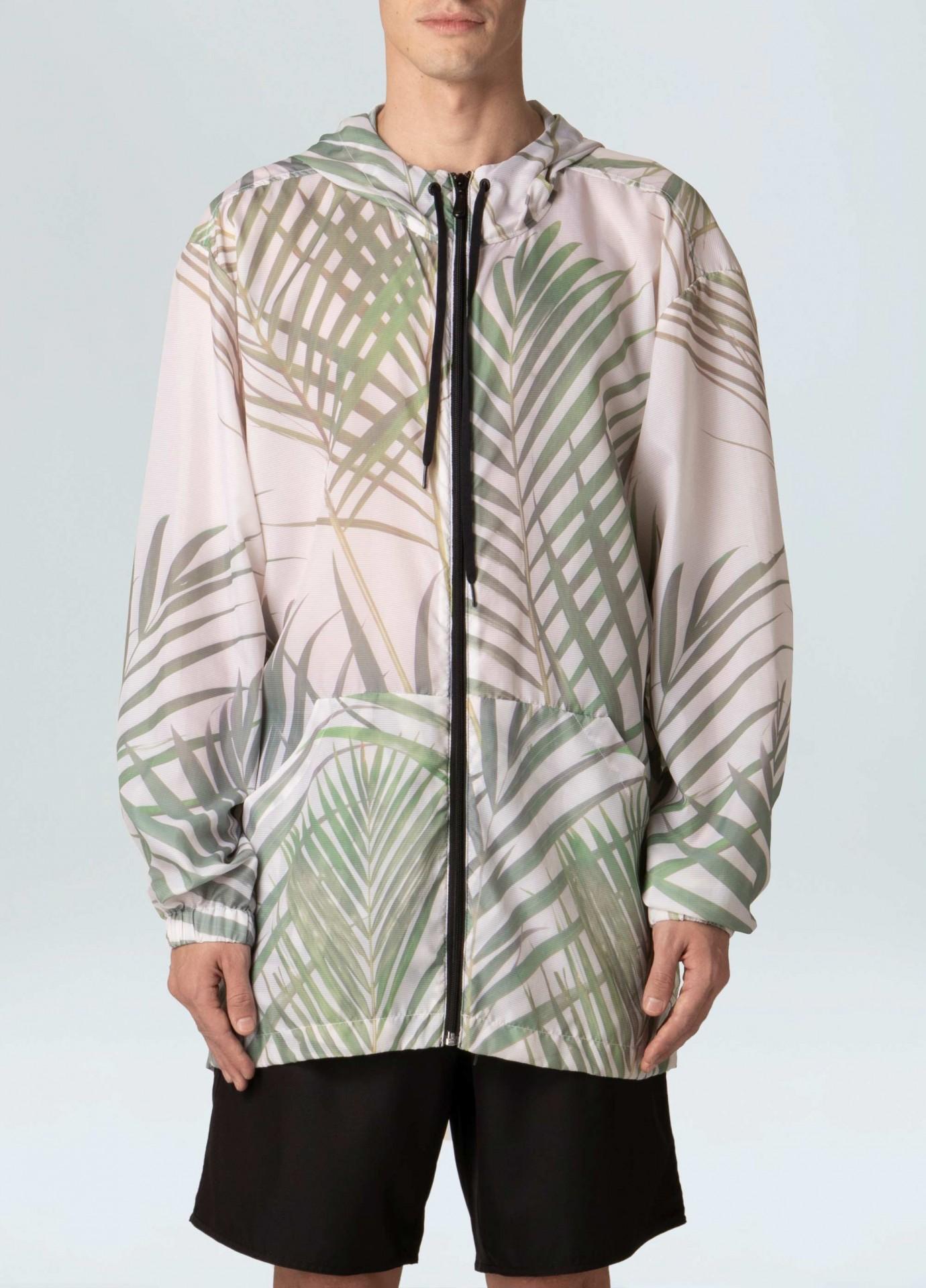 Rain Coat Masculino Osklen Palm Leaf