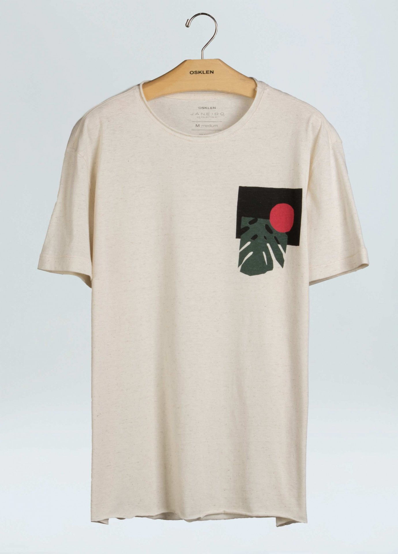 T-Shirt Masculina Osklen Cânhamo Outline Terraço