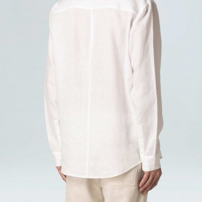 Camisa Masculina Osklen Linen Band Collar Ml