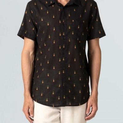 Camisa Masculina Osklen Mini Abacaxi Mc