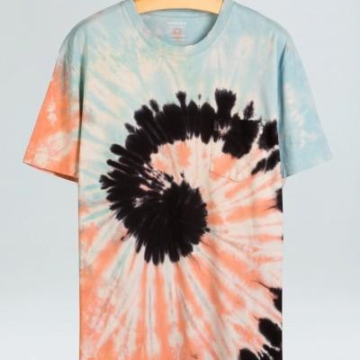 T-shirt Osklen pocket colorfull spiral