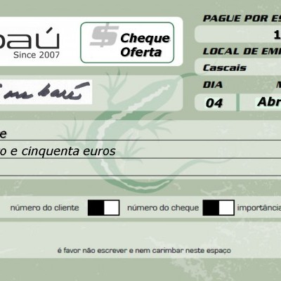 Cheque-Oferta Embaú 150